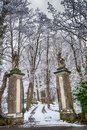 Entrance gate to a park Royalty Free Stock Photo