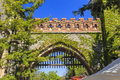 Entrance gate to Vajdahunyad Castle.Budapest Royalty Free Stock Photo