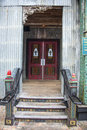 Entrance of gospel church colorful to a modest Royalty Free Stock Image