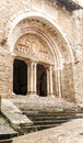 Entrance of a gothic church Royalty Free Stock Photo