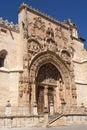 Entrance of the Gothic church of Santa Maria la Real, Aranda de Royalty Free Stock Photo