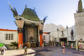 Entrance of grauman s chinese theatre in hollywood los angeles june on june ca there are nearly celebrity handprints footprints Royalty Free Stock Image