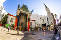 Entrance of grauman s chinese theatre in hollywood los angeles june on june ca there are nearly celebrity handprints footprints Stock Photography