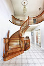 Entrance hall with staircase Royalty Free Stock Photos