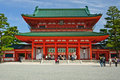 Entrance of Heian Jingu Kyoto Japan Stock Photo