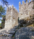 Entrance of the keep of the castle where the first king of portugal imprisoned his mother povoa de lanhoso april after Stock Photo