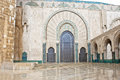Entrance King Hassan II Mosque, Casablanca Royalty Free Stock Photo