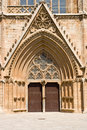 Entrance in lala mustafa pasha mosque formerly st nicholas cathedral famagusta northern cyprus Royalty Free Stock Image