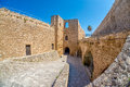 Entrance of medieval Venetian castle in Kyrenia, Cyprus Royalty Free Stock Photo