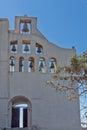 Entrance of Monastery Prophet Elias,  Santorini island, Thira, Greece Royalty Free Stock Photo
