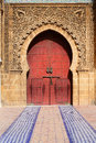 The entrance of Moulay Ismail Mausoleum. Meknes, Morocco Royalty Free Stock Photo