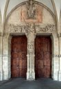 Entrance in muenster architectural detail a city north rhine westphalia germany Stock Photo