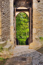 Entrance of old castle Kokorin Royalty Free Stock Photo