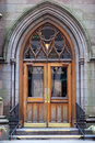 Entrance of an old church in NYC Royalty Free Stock Photo