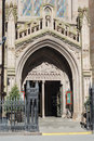 Entrance of an old church in NYC Royalty Free Stock Photography