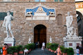 Entrance of Palazzo Vecchio Royalty Free Stock Photo