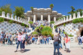 Entrance in Park Guell, Barcelona Stock Image