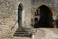 Entrance of perouges the medieval village Royalty Free Stock Images
