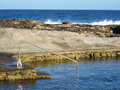 Entrance into the rock pool shot in salt near ballito and durban north coast of kwazulu natal south africa Royalty Free Stock Image