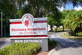 The entrance of shriners hospitals for children main taken in tampa florida Stock Photography
