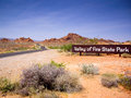 Entrance sign valley fire state park nevada usa Stock Photo