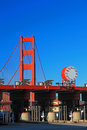 The Entrance Station of Golden Gate Bridge Stock Images