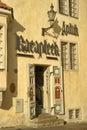 Entrance to an antique shop tallinn estonia Royalty Free Stock Photo