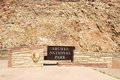 Entrance to arches national park sign for near moab utal Royalty Free Stock Photos
