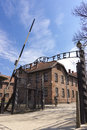 Entrance to auschwitz concentration camp was a network of german nazi camps and extermination camps built and operated by the Royalty Free Stock Photography