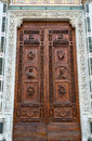 Entrance to the Basilica of Santa Croce in Florence Royalty Free Stock Photo