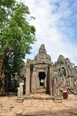 Entrance to Bayon temple in Angkor Thom city Stock Images