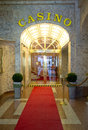 Entrance to casino prague wenceslas square czech republic Royalty Free Stock Photography