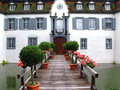 Entrance to the castle Bottmingen, Switzerland Royalty Free Stock Photos
