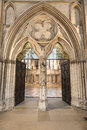 Entrance to the chapter house at york minster uk the cathedral dates back from Royalty Free Stock Photography