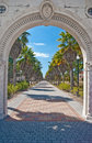 Entrance to Charles Ringling Mansion Stock Image