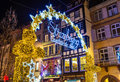 Entrance to the Christmas Market in Strasbourg - France Royalty Free Stock Photo