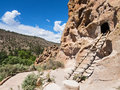 Entrance to cliff dwellings native american bandelier national monument new mexico Royalty Free Stock Photo