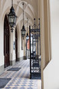 Entrance to collegium novum jagiellonian university in krakow poland gothic revival architecture Royalty Free Stock Image