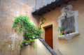 Entrance to a flat with steps in rome Stock Photo