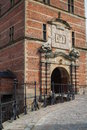 Entrance to Frederiksborg Palace, Hilleroed, Denmark Royalty Free Stock Photo