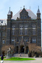 Entrance to georgetown university was founded by john carrol in Stock Photo