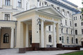Entrance to the Grand hall of the Moscow Conservatory Royalty Free Stock Photo