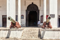 Entrance to house of wonders currently museum history and culture zanzibar and the swahili coast former palace the palace Royalty Free Stock Photography