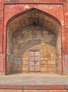 Entrance to Humayun's Library, Purana Qila Royalty Free Stock Photo