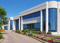 Entrance to Industrial Park building Royalty Free Stock Photography