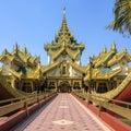 Entrance to karaweik palace replica burmese royal barge kandawgyi lake yangon myanmar national landmark now houses restaurant Royalty Free Stock Photo