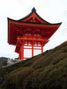 Entrance to Kiyomizu-dera Temple - Kyoto, Japan Royalty Free Stock Images