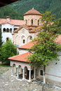 Entrance to the main temple monastery bachkovski in bulgaria bachkovo second eminence orthodox located bachkovsky mountains near Royalty Free Stock Image