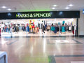 Entrance to marks spencer store situated milton keynes buckingham united kingdom marks spencer major british retailer Stock Images