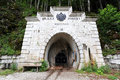 Entrance to the mine, Hallstatt Stock Photos